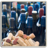 wine corks and bottles